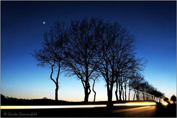 Lichter rauschen durch die Nacht . . .