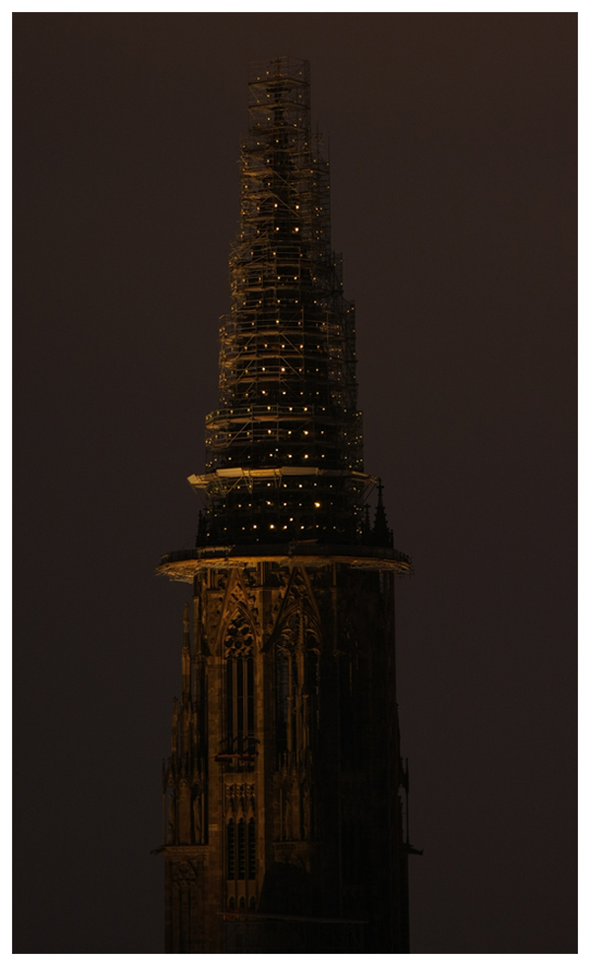 Lichterkunst am Münsterturm