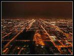 Lichtermeer - die Aussicht vom Sears Tower nach Süden