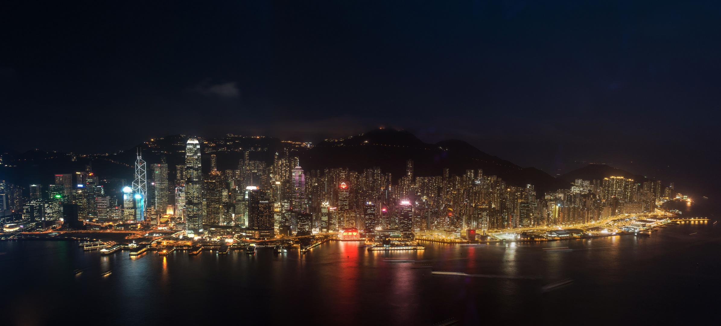 Lichtermeer Hong Kong Island