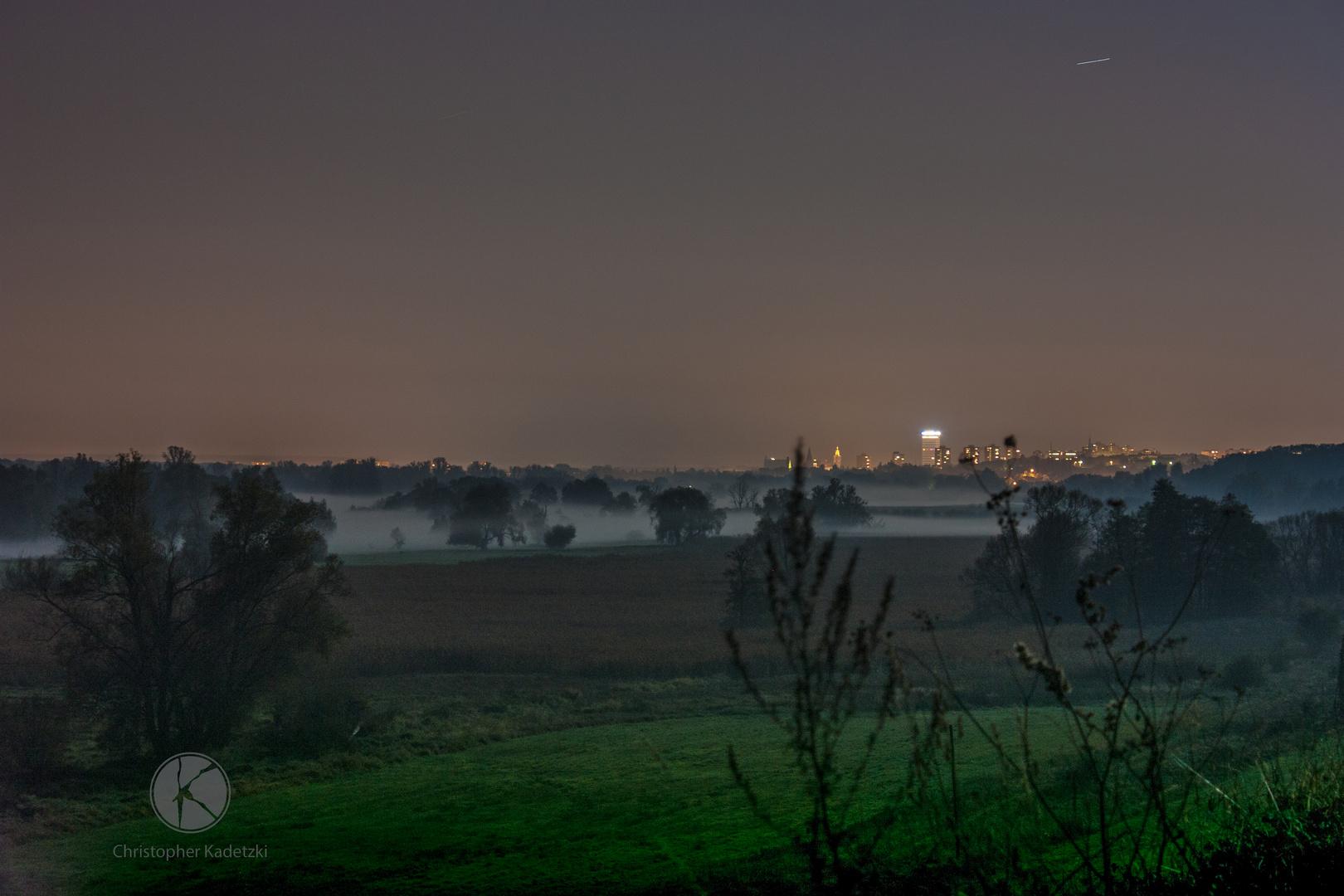 Lichtersmog auf Frankfurt (Oder)