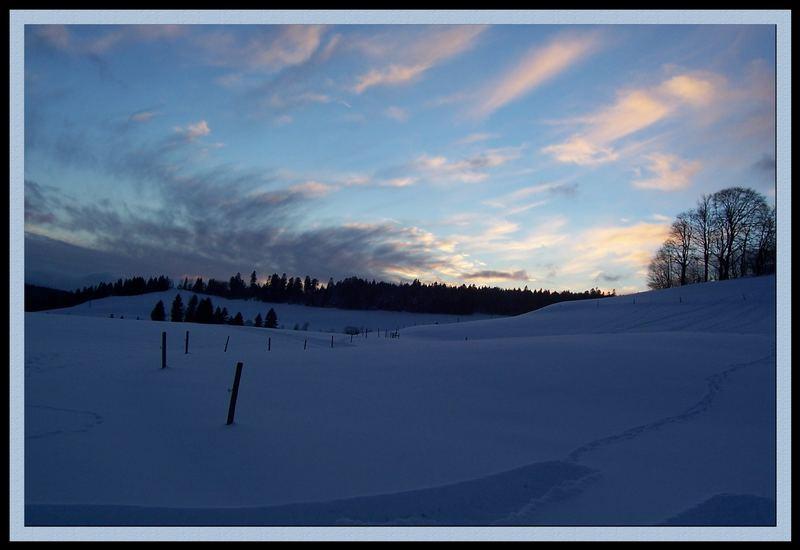 Lichterspiel in einer Winterlandschaft