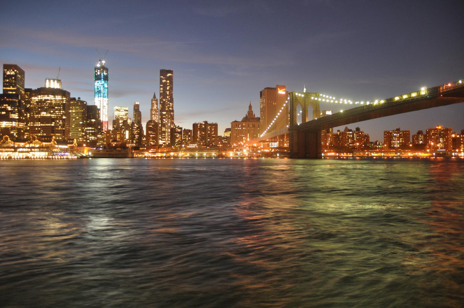 Lichterspiel in New York bei Nacht...