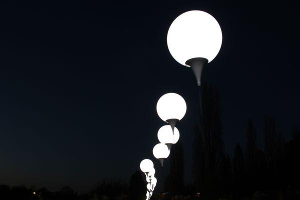 Lichtgrenze im Mauerpark
