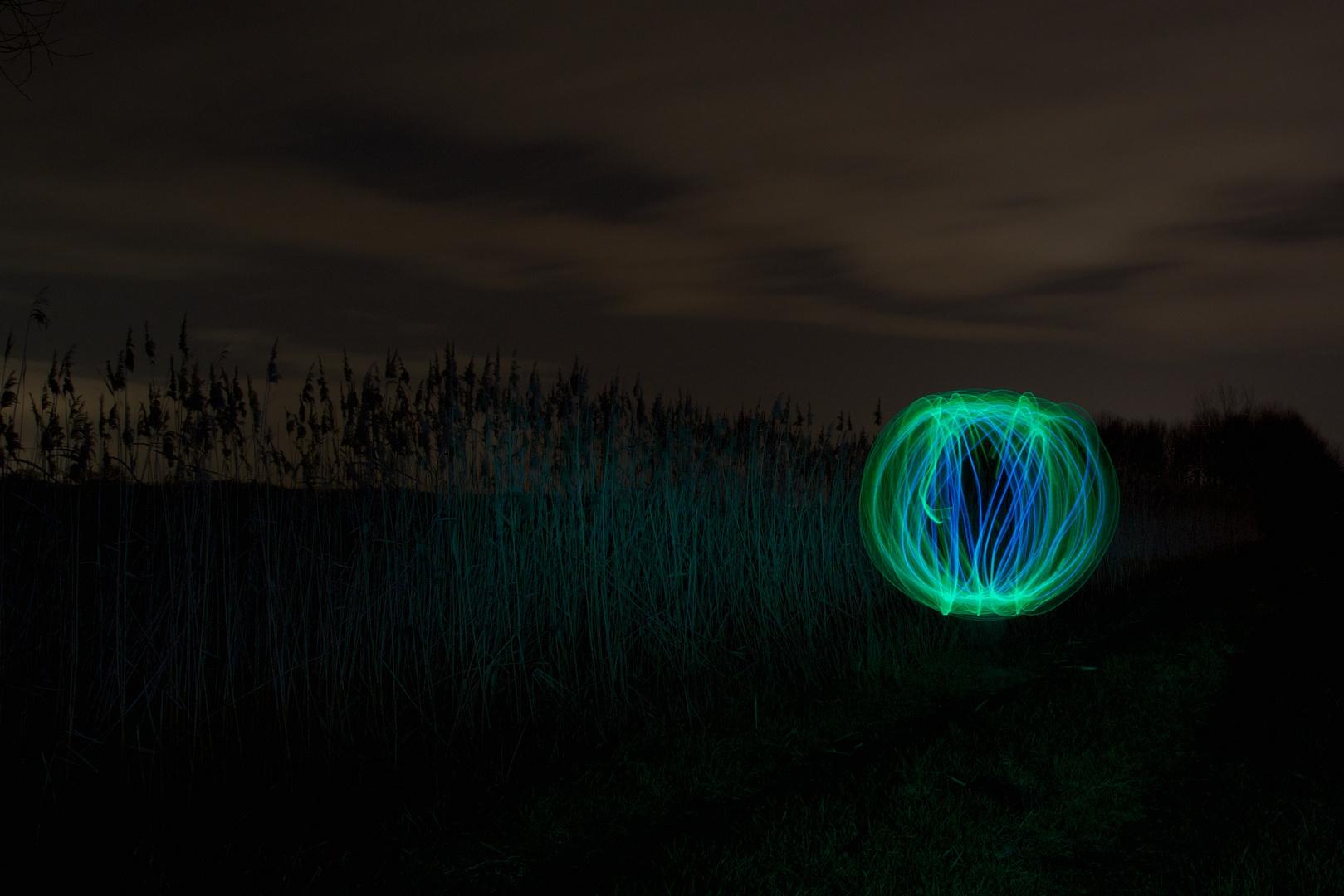 Lichtkugel im Feld