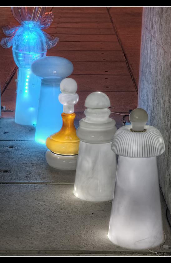 Lichtkunst - Montez at Honsellbrücke 4