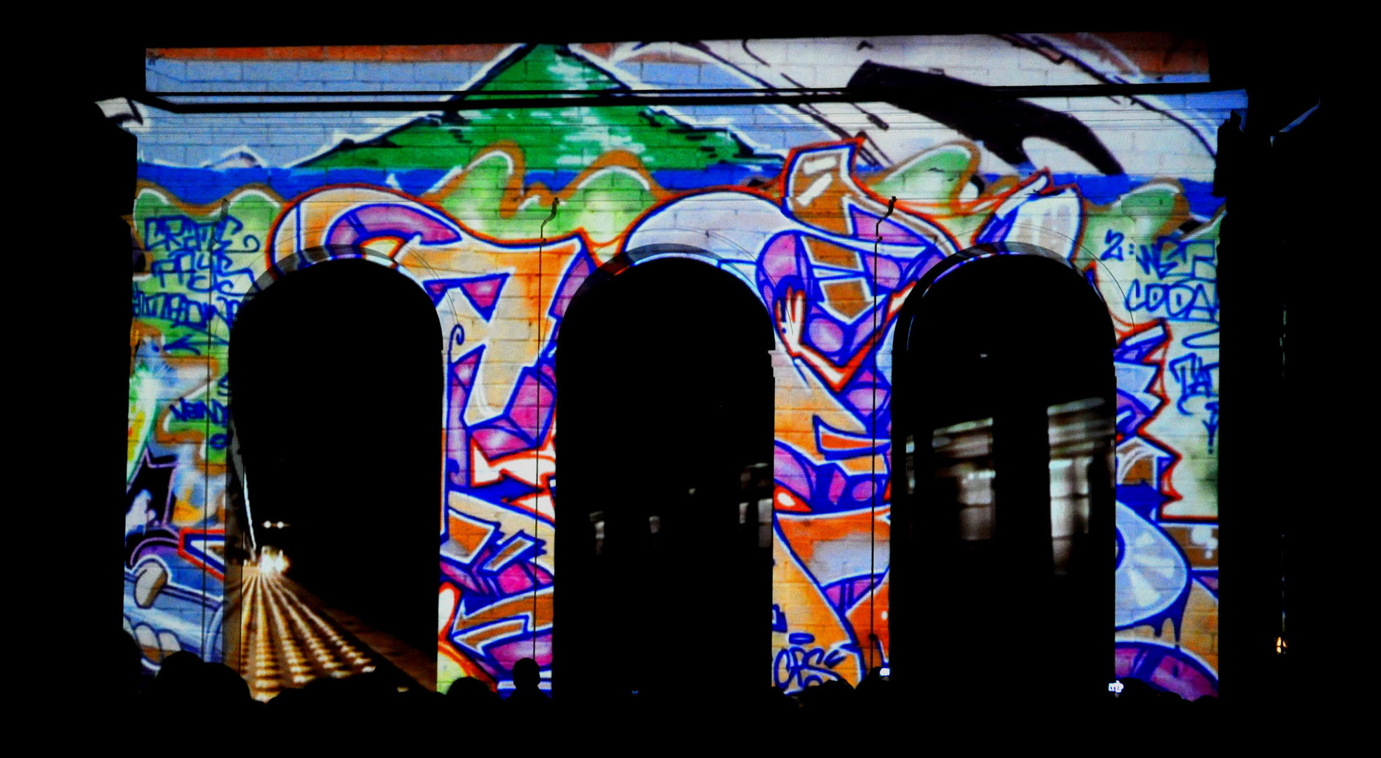 Lichtkunstspektakel auf der Festung Ehrenbreitstein