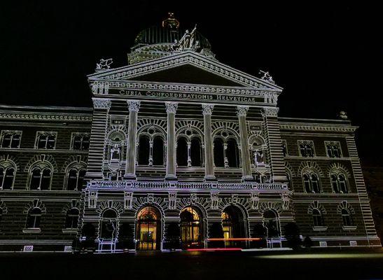 Lichtshow am Bundeshaus