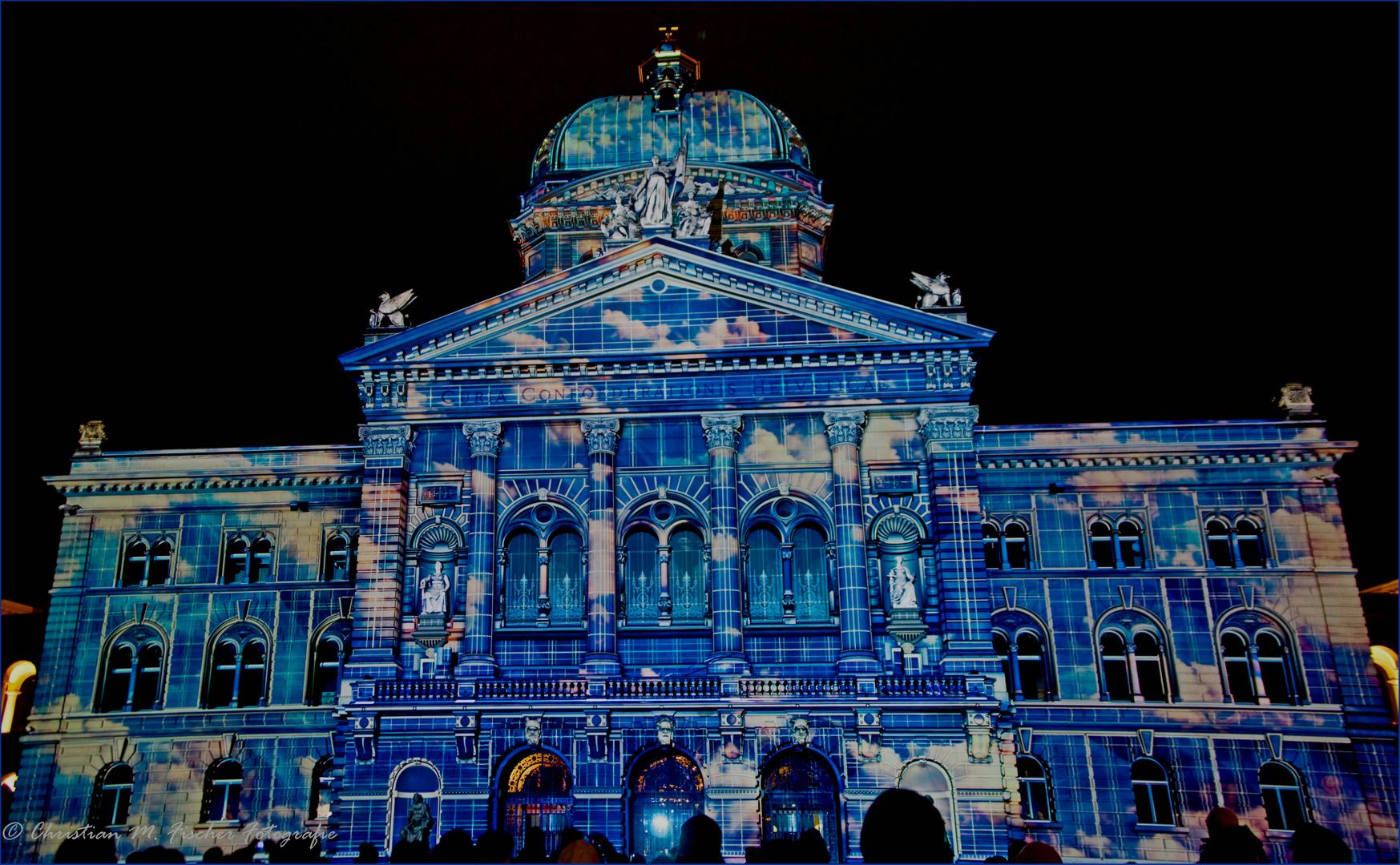 Lichtspektakel Bundeshaus 2012