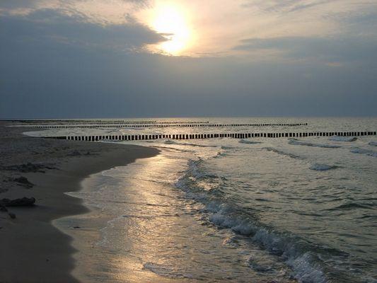 Lichtspiel an der Ostsee in Zingst
