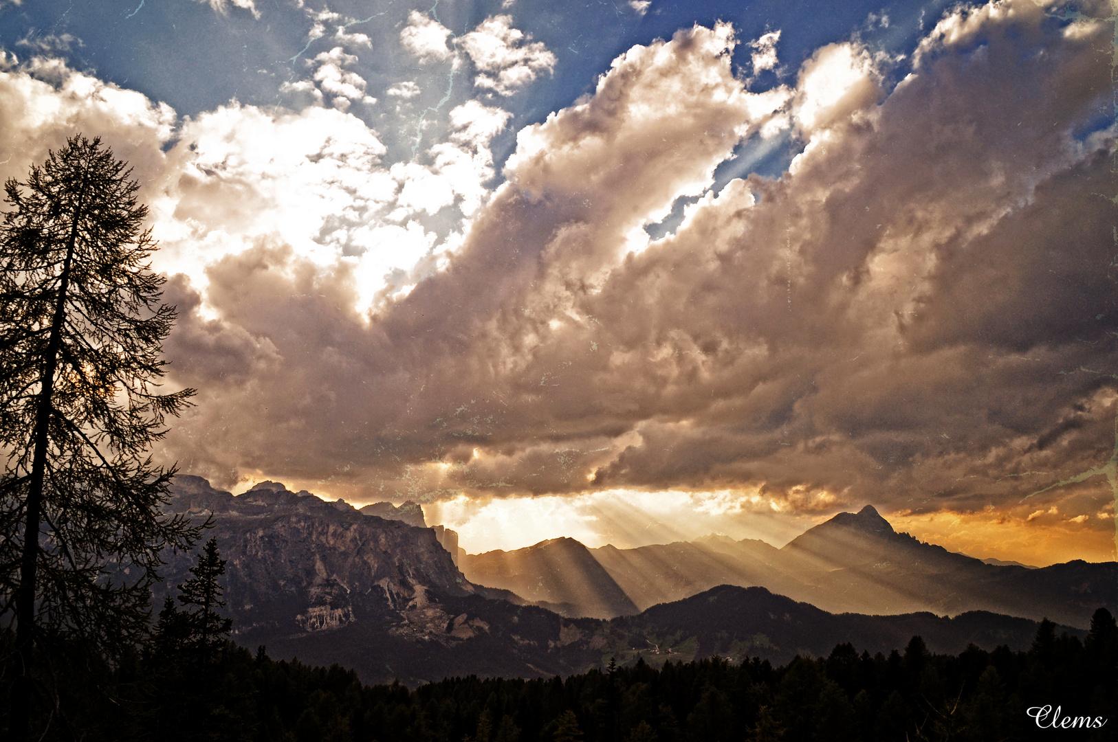 Lichtspiel in den Bergen