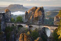 Lichtspiele an der Basteibrücke ...