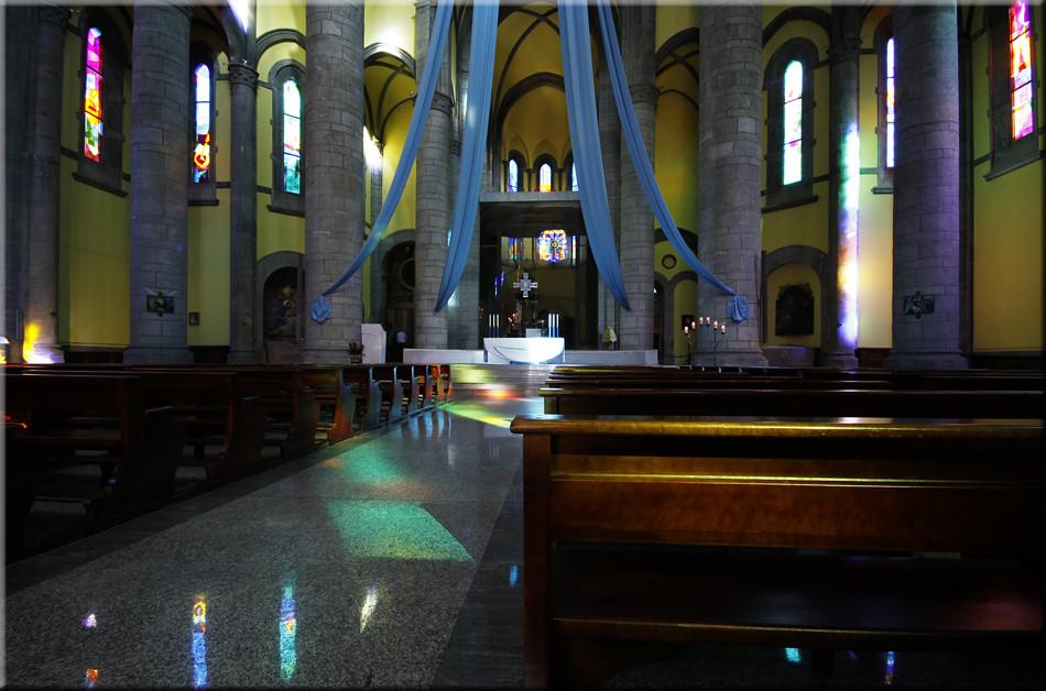 """Lichtspiele in der Wallfahrtskirche """"Madonna del Sangue"""""""