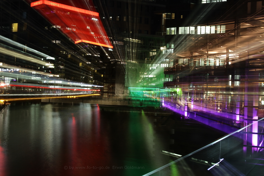 ...Lichtspielerei Medienhafen Düsseldorf