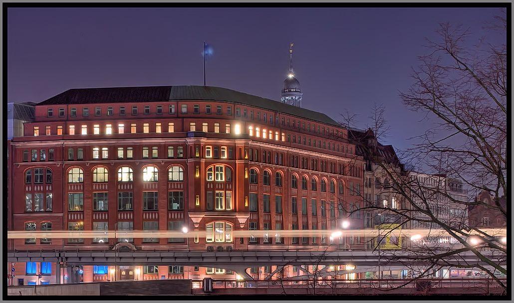Lichtspur der U-Bahn