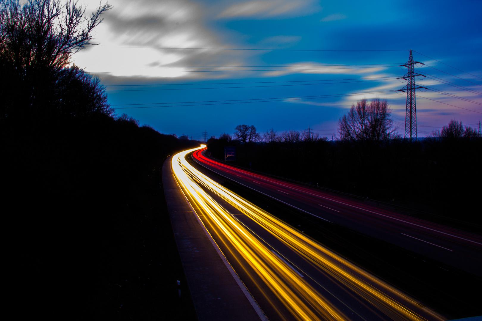 Lichtzieher Autobahn