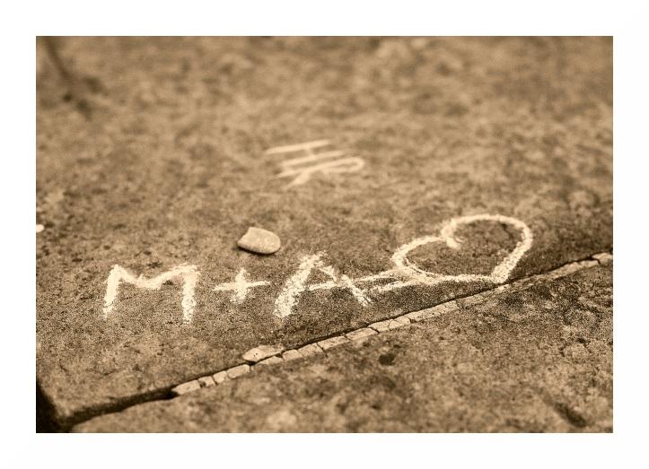 Liebe auf Stein geschrieben