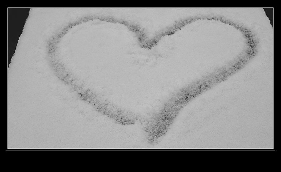 Liebeserklärung im Schnee ~ Neujahrsspaziergang