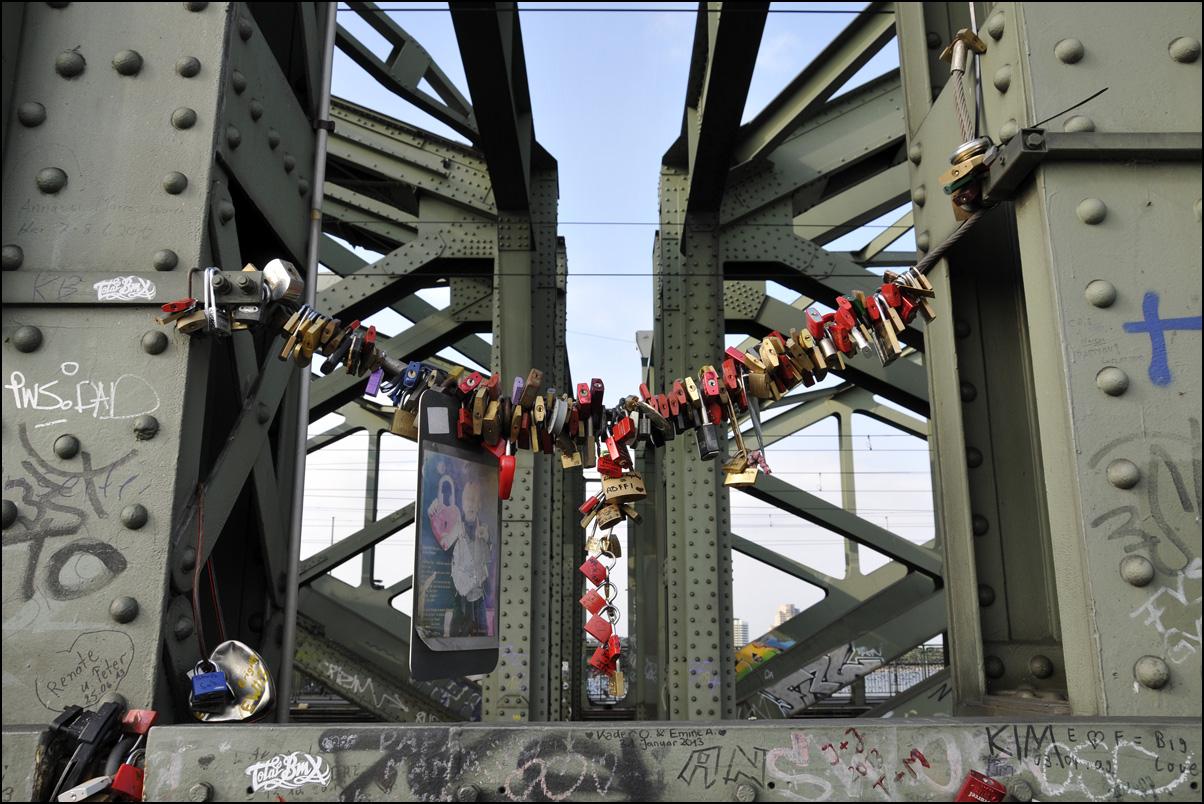Liebesschlösser von Köln