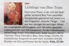 LIEBLINGE von BLUE TRAIN 19.06.15