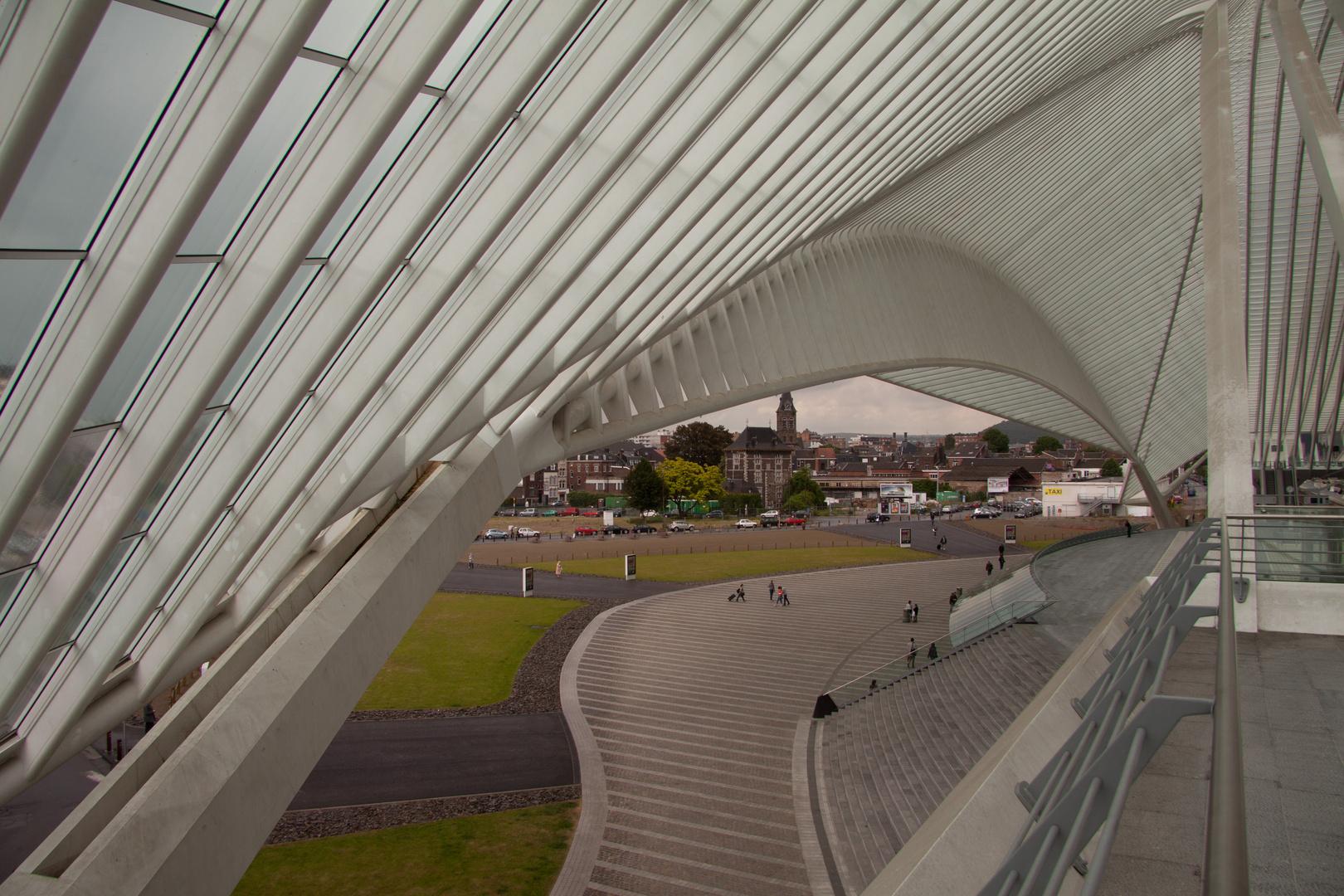 Liège esplanade de la gare des Guillemins