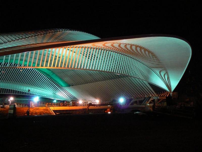 Liège Guillemins gare Calatrava - décembre 2007 nocturne