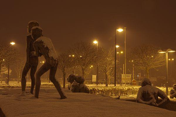 Liège les statues de la Citadelle