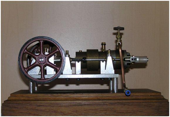 Liegende Einzylinder Dampfmaschine