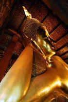 Liegender Buddha im Wat Pho in Bangkok