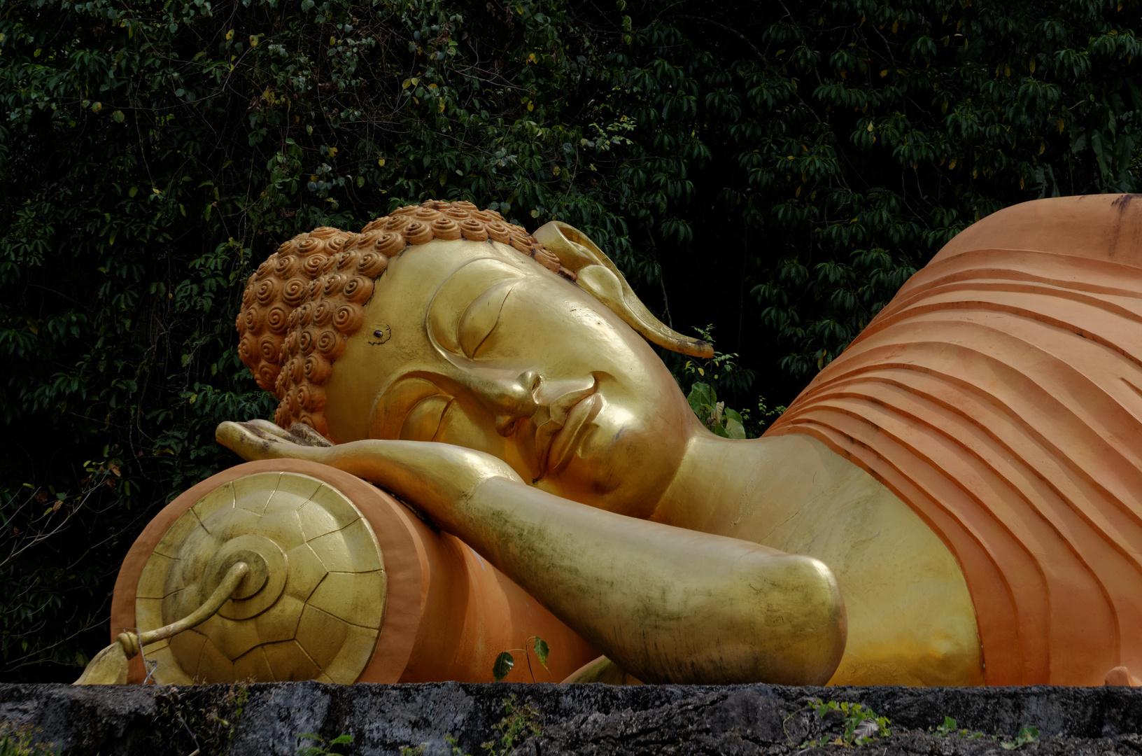 Liegender Buddha, Wat Nong Chik, Krabi, Februar 2014