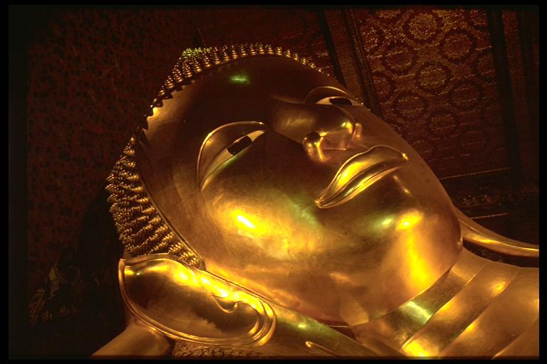 Liegender goldener Buddha in Wat Pho, Bangkok