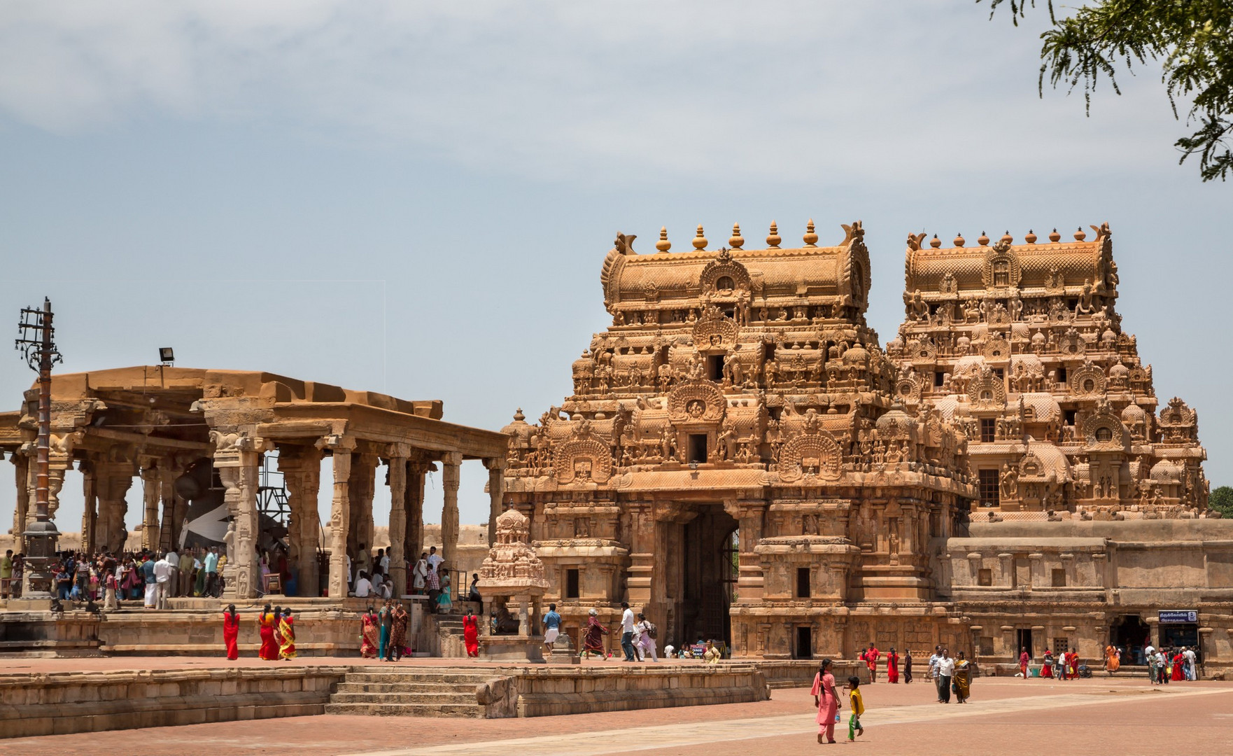 Lieu saint à l'intérieur de l'enceinte du temple Brihadesvara, Tanjore