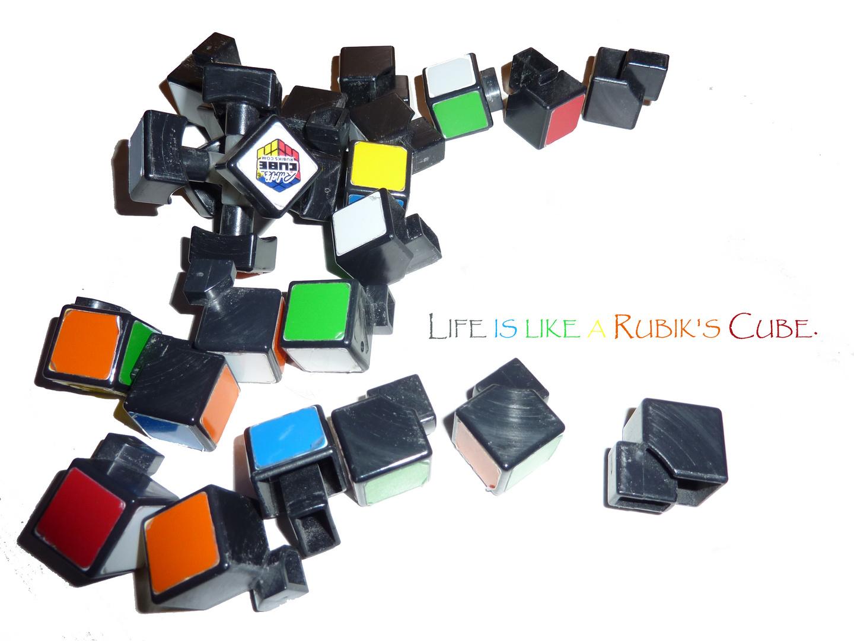 Life is like a Rubik's Cube.