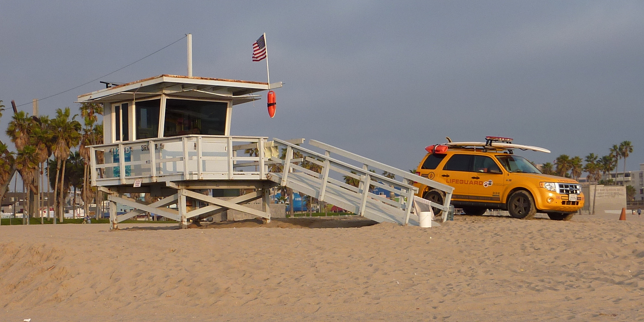 Lifeguards on Venice Beach..