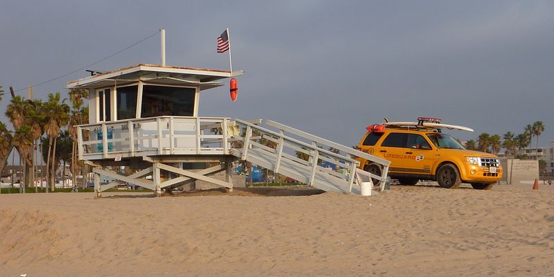 Lifeguards on Venice Beach..