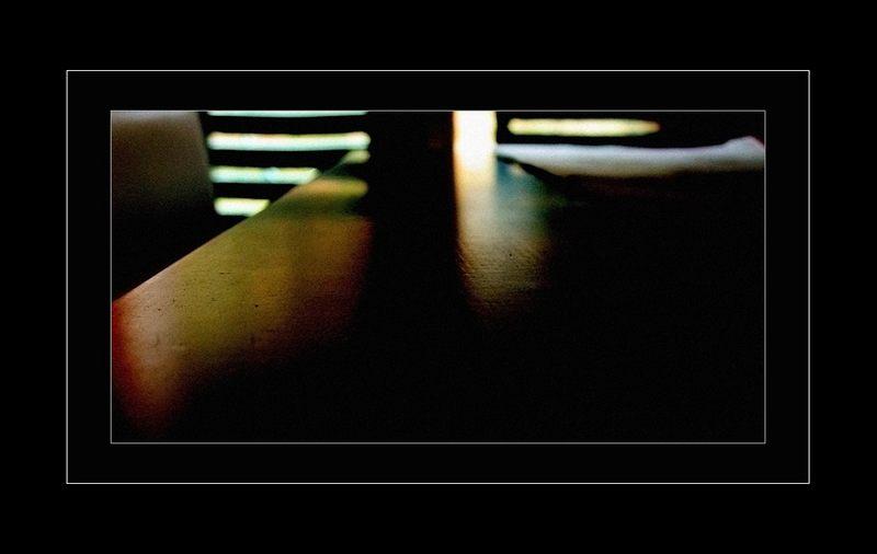 light on the desk
