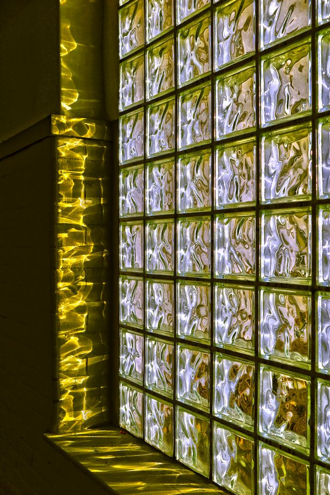 """ light pattern, glass brick window """