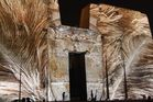 ...Light Show im Edfu Tempel...