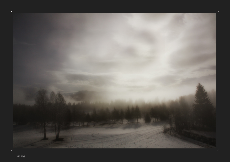 Light veil of mist -  2