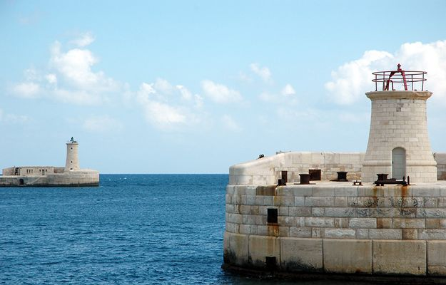 Lighthouses, Grand Harbour, Valetta, Malta