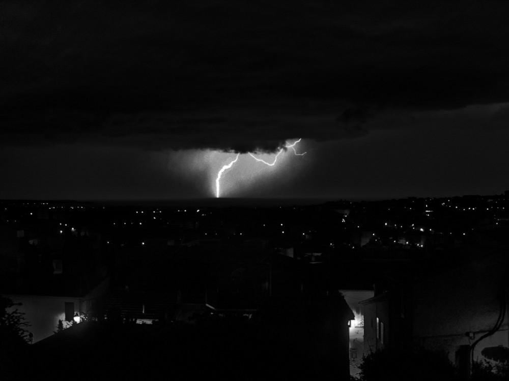 Lightning over Cannes