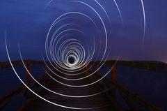 Lightpainting auf der Stralsunder Seebrücke