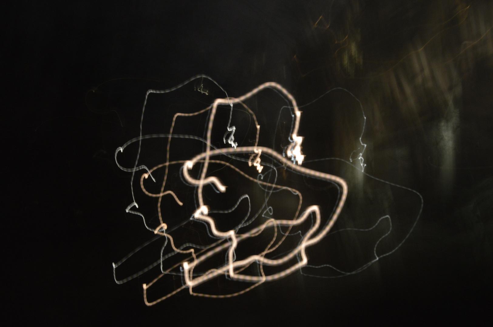 Lightpainting neben der Spur