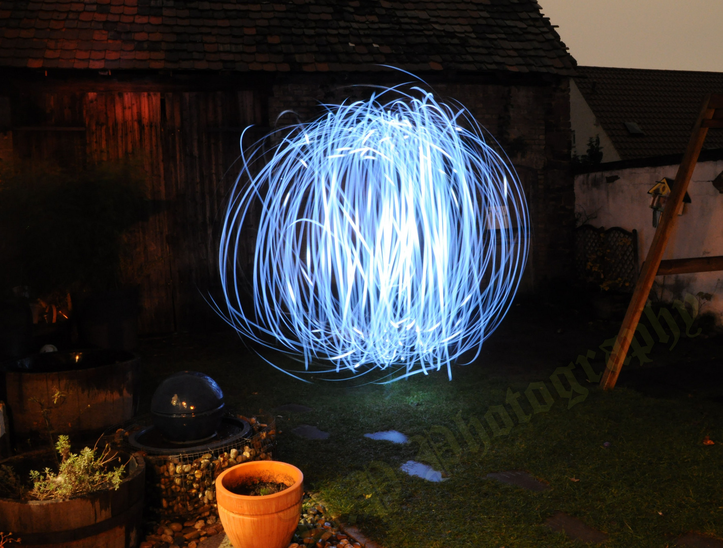 Lightpainting The Time Machine