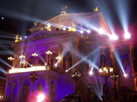 "Lightshow ""Alte Oper"" in Frankfurt am Main"