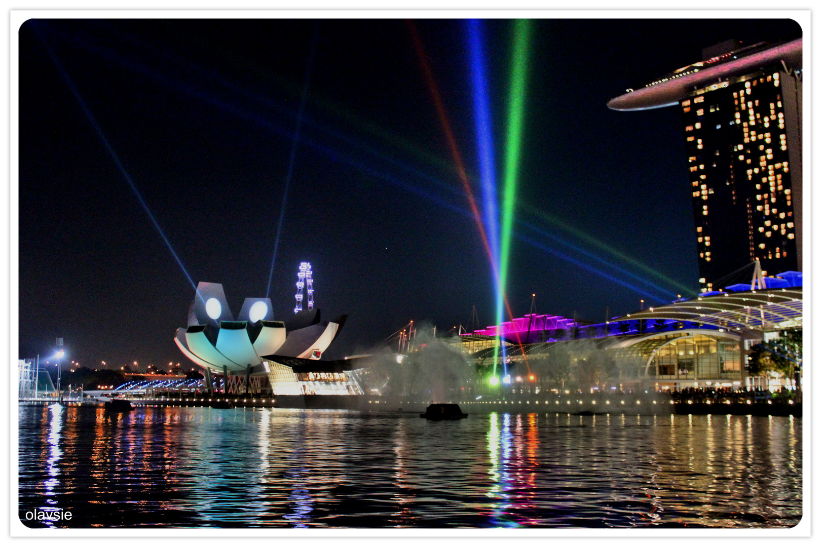 Lightshow in Singapur