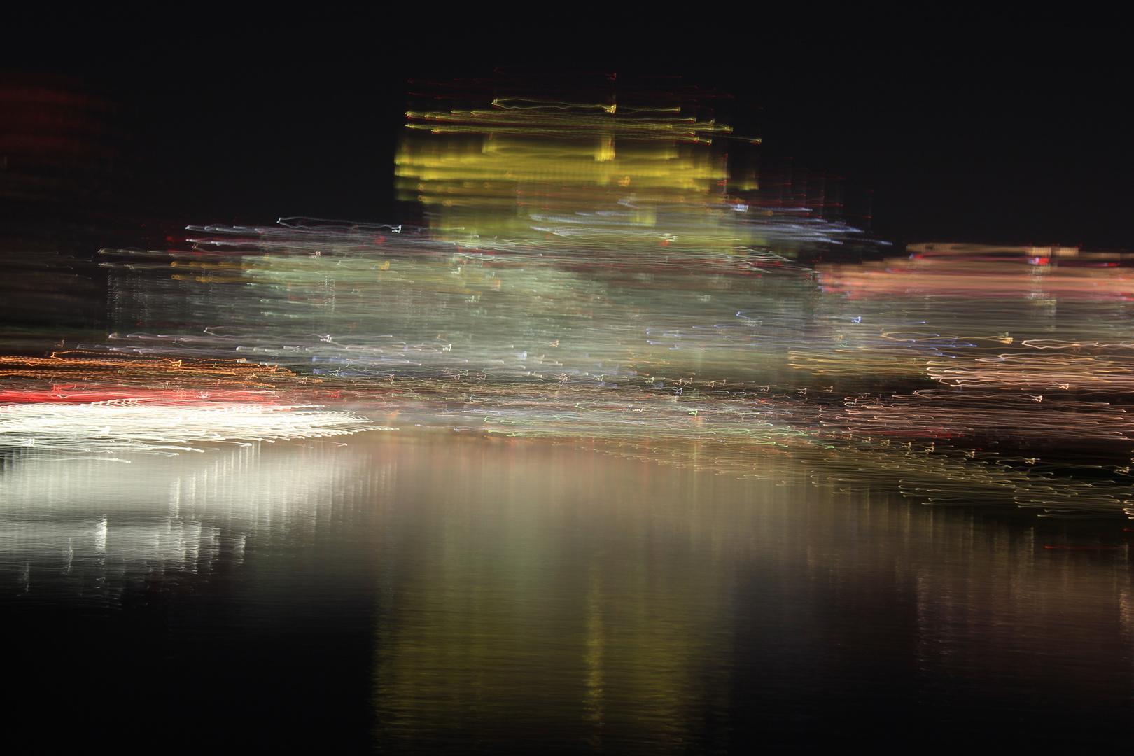 Lightwriting mit Frankfurt Skyline 3