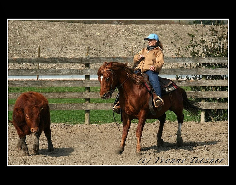 Like a cowgirl