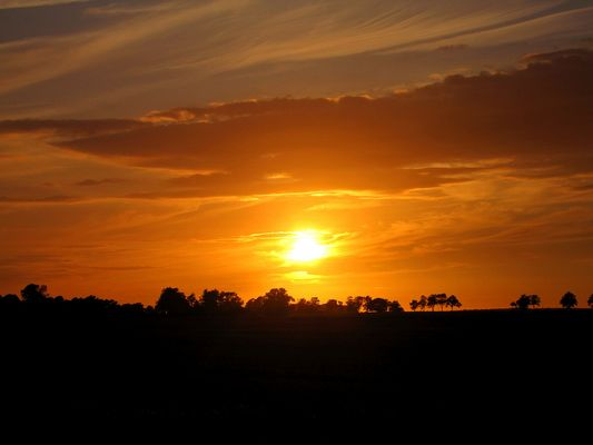 like an african sunset