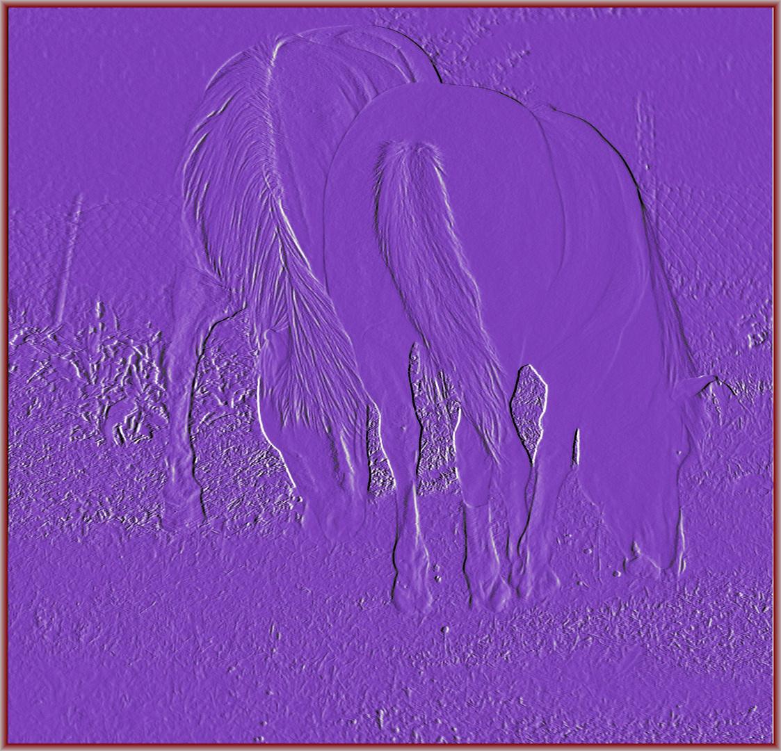 Lila Pferde (Relief)
